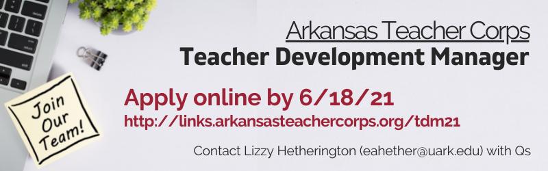 We're Hiring: Teacher Development Manager